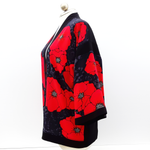Load image into Gallery viewer, kimono jacket red poppies