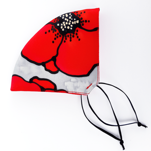 silk fabric mask red