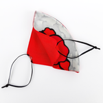 Load image into Gallery viewer, double layer red poppy facemask made by Lynne Kiel
