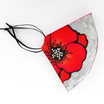 Load image into Gallery viewer, silk red poppy facemask made by Lynne Kiel