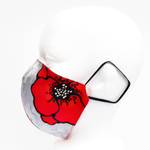 Load image into Gallery viewer, fitted silk facemask for ladies made in Canada