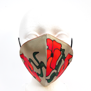 painted silk mask