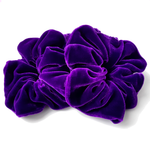 Load image into Gallery viewer, oversized purple velvet scrunchies for hair
