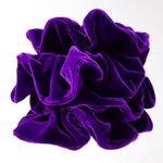 Load image into Gallery viewer, jumbo oversized purple velvet scrunchies for gymnastics