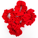 Load image into Gallery viewer, Large red scrunchie hair ties elastic ties hair accessory