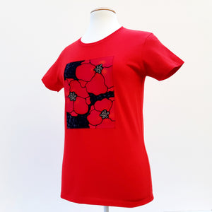 remembrance day poppies red t-shirt
