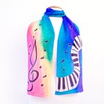 Load image into Gallery viewer, rainbow silk scarf
