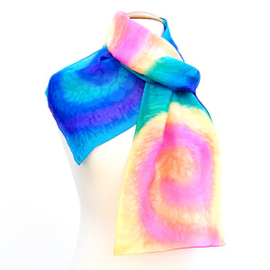 painted silk ladies scarf