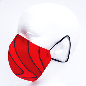 silk red mask