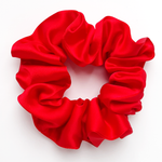 Load image into Gallery viewer, red silk scrunchies for bridesmaids gift mothers day gift