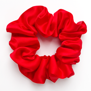 red silk scrunchies for bridesmaids gift mothers day gift