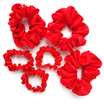 Load image into Gallery viewer, red pure silk hair accessories for sleeping gentle on hair