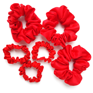 red pure silk hair accessories for sleeping gentle on hair