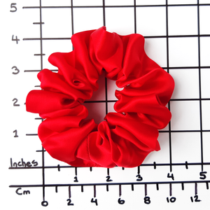 large small medium scrunchie sizes hand made in Canada