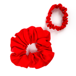 Load image into Gallery viewer, red scrunchies  pure silk handmade by Lynne Kiel