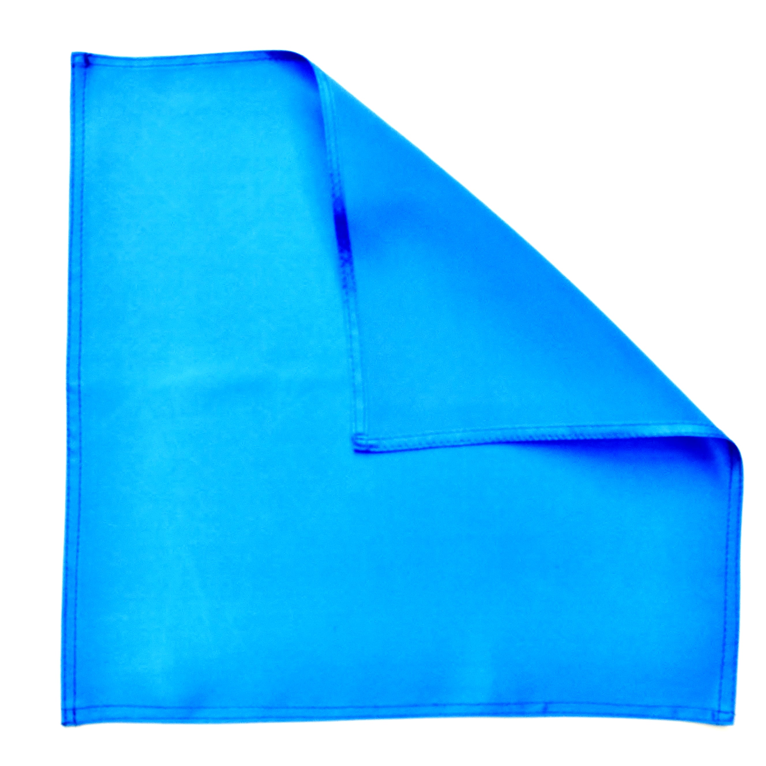 pocket square blue satin silk for men