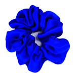 Load image into Gallery viewer, blue silk scrunchie
