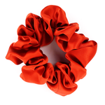 Load image into Gallery viewer, rust orange hair scrunchie