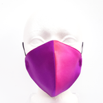 Load image into Gallery viewer, rainbow satin facemask