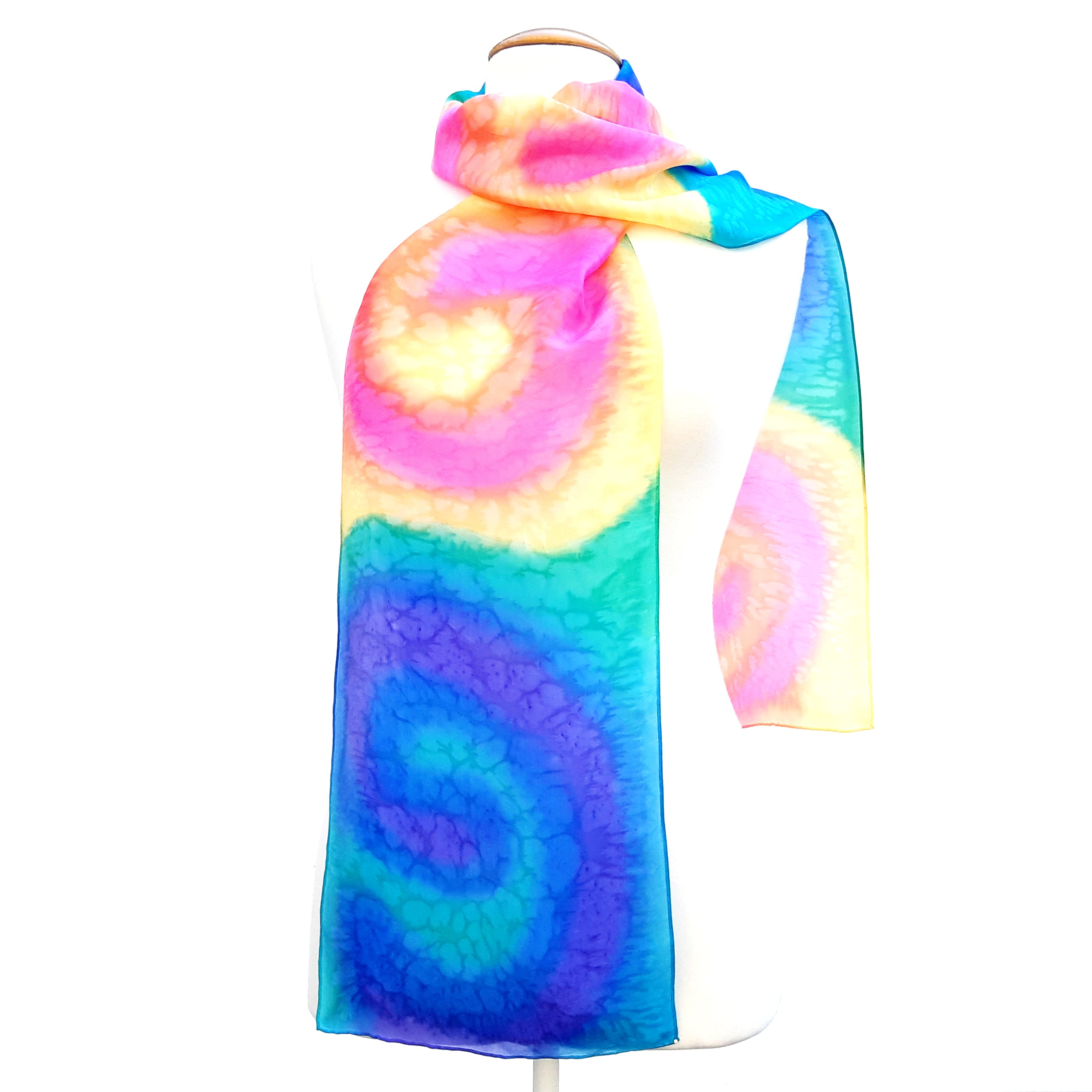 painted silk scarfs for women