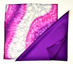 painted silk pocket square