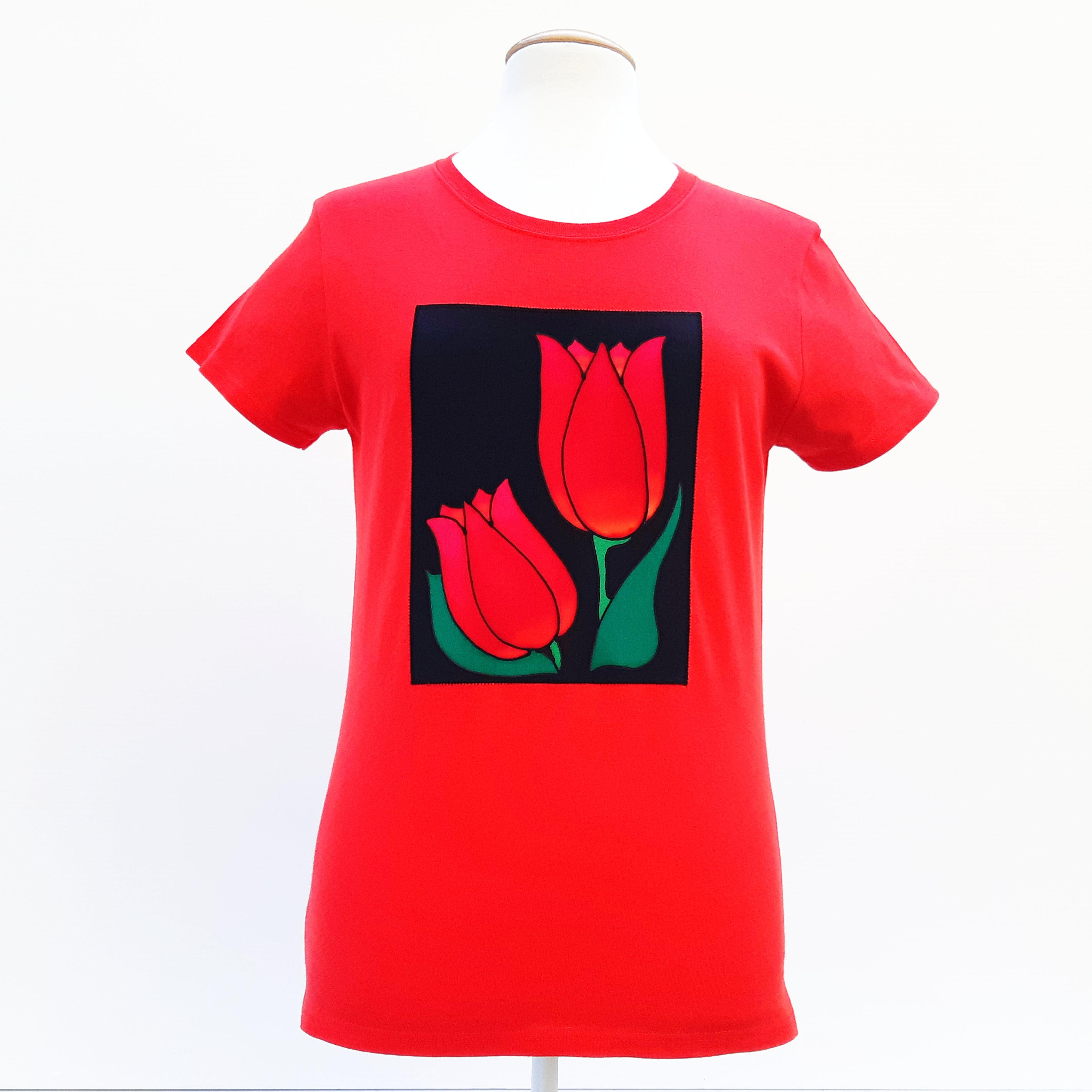 100% cotton t-shirt semi fitted ladies