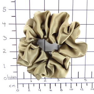 beige hair scrunchie large size made by Lynne Kiel