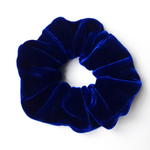 Load image into Gallery viewer, Blue Velvet scrunchie