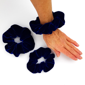 velvet silk scrunchie for yoga