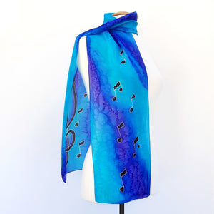 long scarf design scarves blue made in Canada