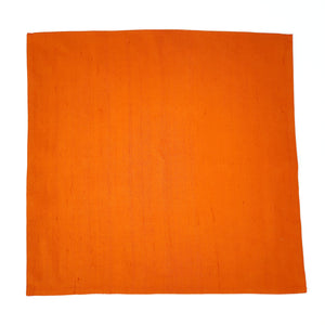 pocket square russet orange painted silk for men