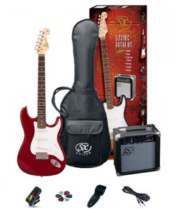 SX SE1 Strat Style Guitar Pack 3/4 Size  - VARIOUS COLOURS