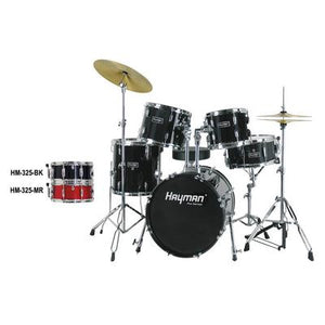 HM-325-BK |Hayman Pro Series 5-piece jazz drum kit