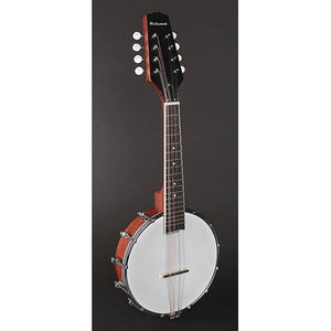RMBM-408 Richwood Master Series open back mandolin banjo with mahogany rim