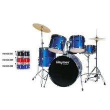 Load image into Gallery viewer, HM-400-BK |Hayman Pro Series 5-piece drum kit