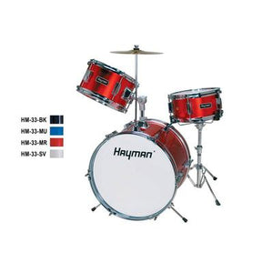 HM-33-BK |Hayman Junior Series 3-piece drum kit