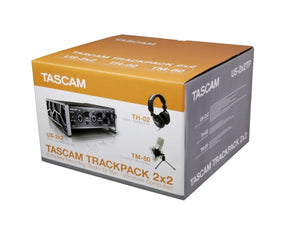 Tascam TRACKPACK 2x2 Complete Recording Bundle (US2x2, TM80, TH02) - Musko Music Store