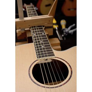 James Neligan Asyla series mini auditorium acoustic travel guitar with solid spruce top, left-handed model