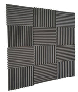12 Pack- Acoustic Panels foam Wedges - Soundproofing Panels 1inch x 12 inch x 12inch - Musko Music Store