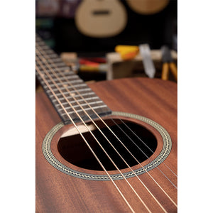 James Neligan Deveron series mini auditorium acoustic travel guitar with solid mahogany top