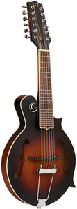 Gold Tone 12-string guitar mandolin with F-style body, pickup and case