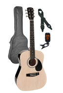 GSD-6034-NT/PCK  | Nashville 3/4 Scale Guitar Pack - Natural with bag