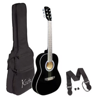 Koda 3/4 Size Guitar c/w Gig Bag, Strap & Picks - Various Colours