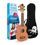 Octopus soprano ukulele ~ Various Colours - with free bag - Musko Music Store