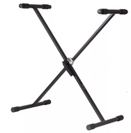Koda X Style, Single Braced Keyboard Stand, Heavy Duty Steel, Easy to Use Circular Toothed Locking Mechanism