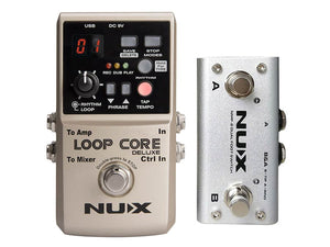 NUX LOOPCDLX/B Core Series loop pedal bundle LOOP CORE DELUXE