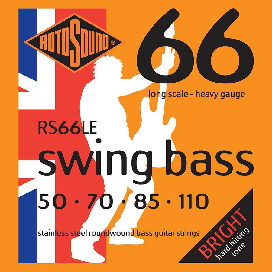 RS66LE |Rotosound Swing Bass 66 string set electric bass stainless steel 50-110