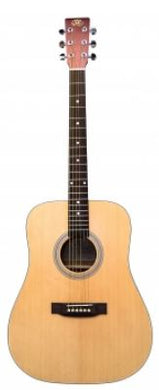 SX 3/4 Size Dreadnought Acoustic Guitar | Natural - Musko Music Store