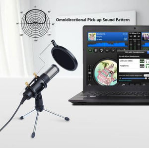 Professional Condenser Microphone USB- Suitable for Online Music Lessons - Musko Music Store