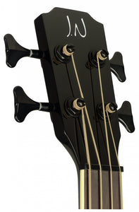 James Neligan Acoustic-electric bass with solid mahogany top, Yakisugi series